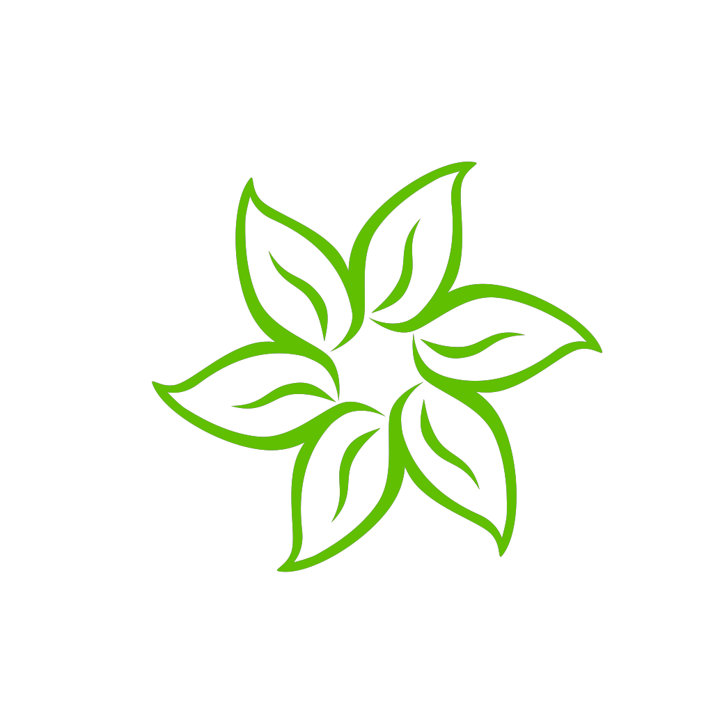 Green Flower SVG Clip arts