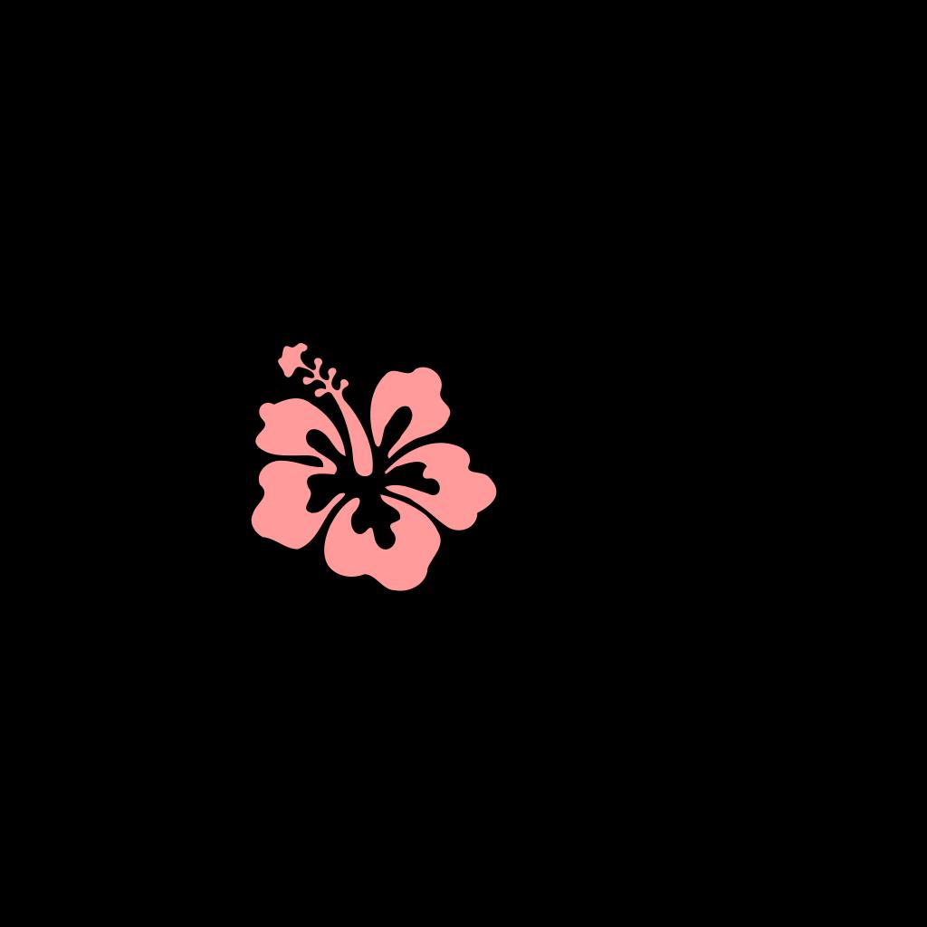 Hibiscus Pink Green SVG Clip arts