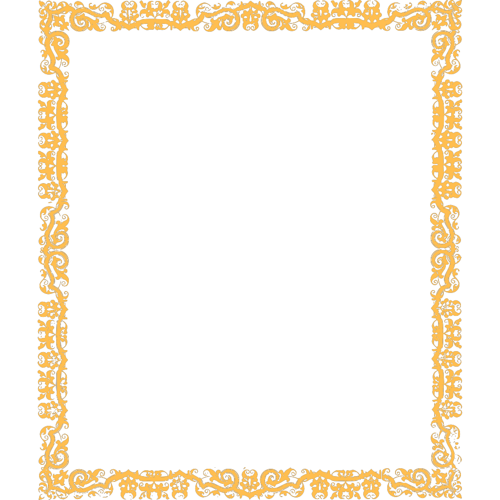 Gold Cool Border SVG Clip arts