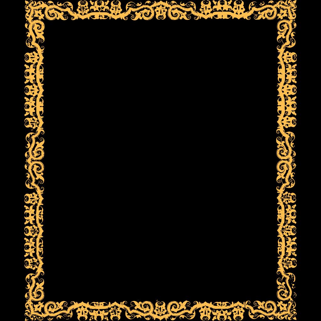 Gold Cool Border SVG Clip arts