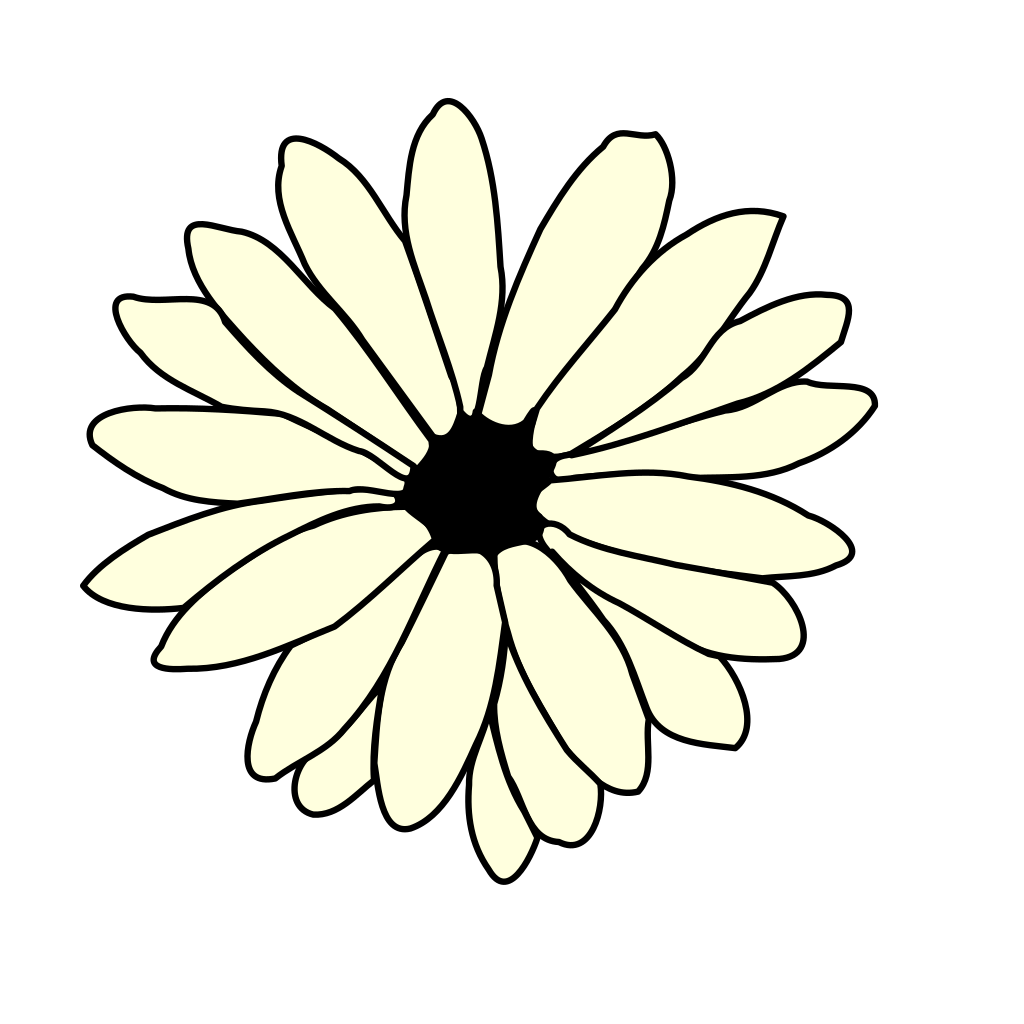 Ivory Daisy SVG Clip arts download - Download Clip Art, PNG Icon Arts