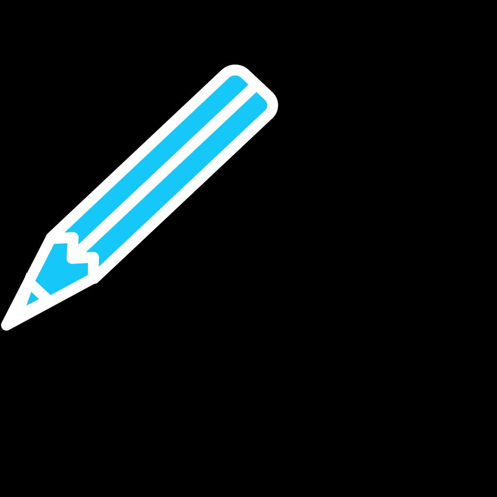 Pencil White Blue SVG Clip arts