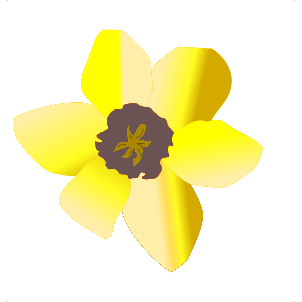 Daffodil (stripped) SVG Clip arts