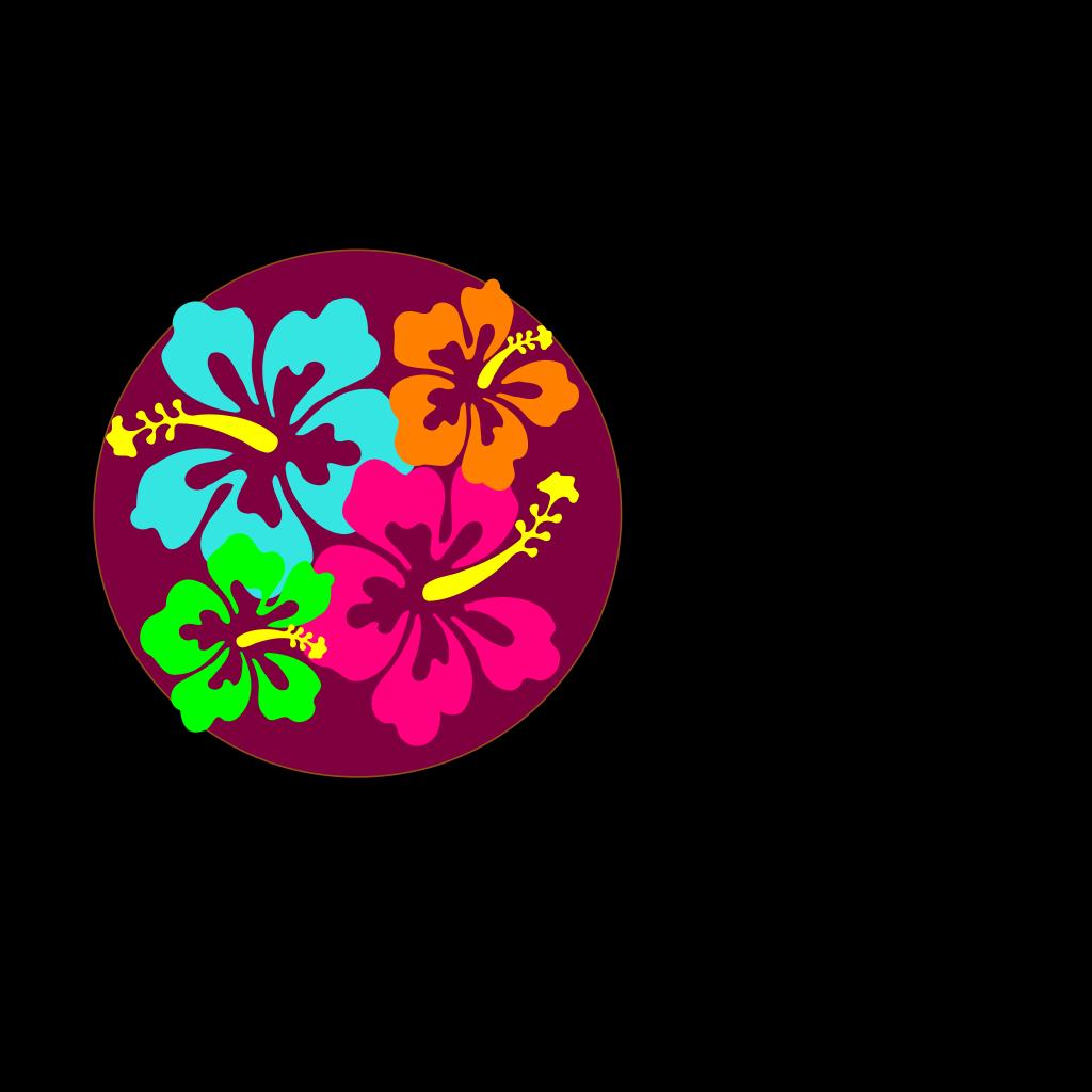 Hibiscus Flower SVG Clip arts
