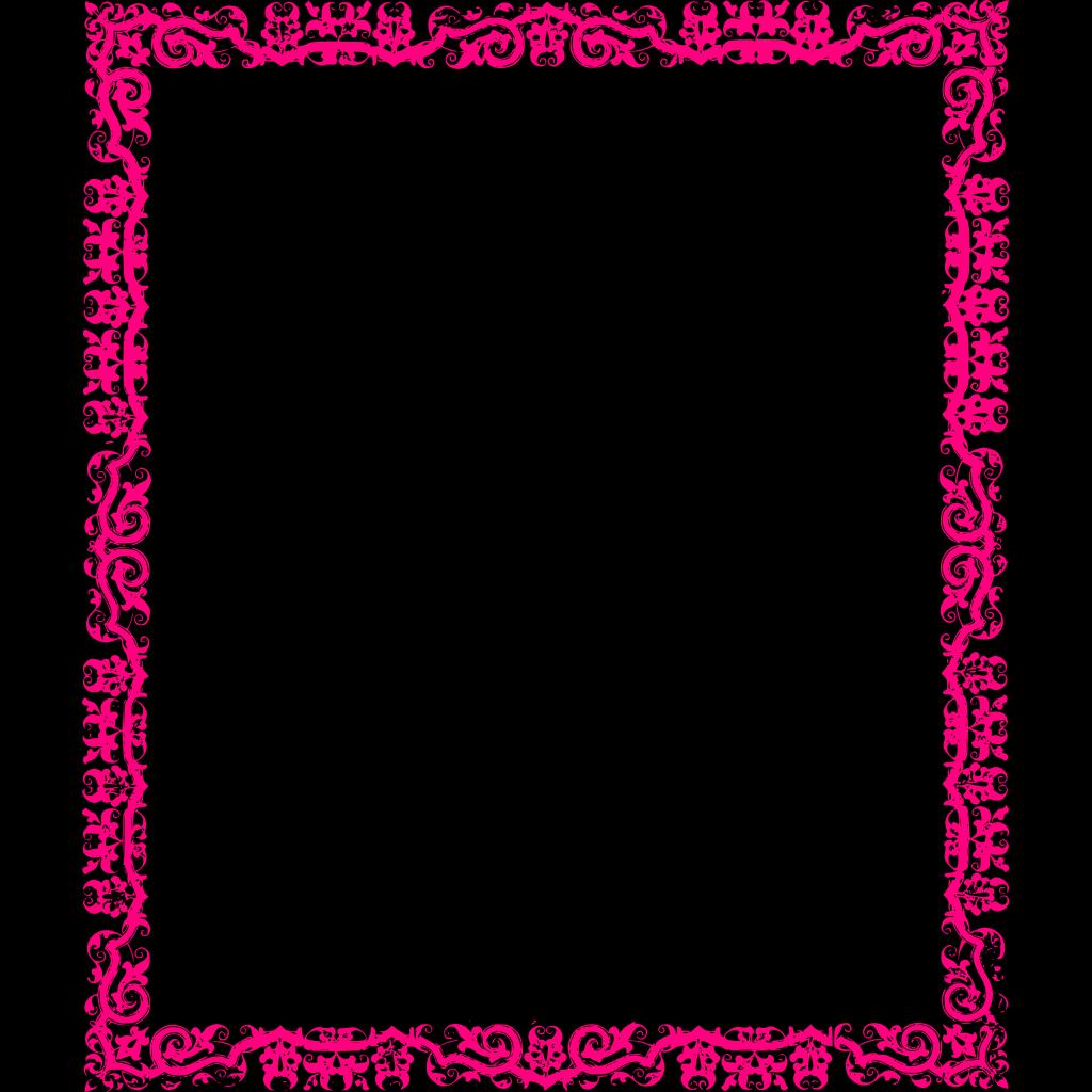 Decorative Pink Border SVG Clip arts