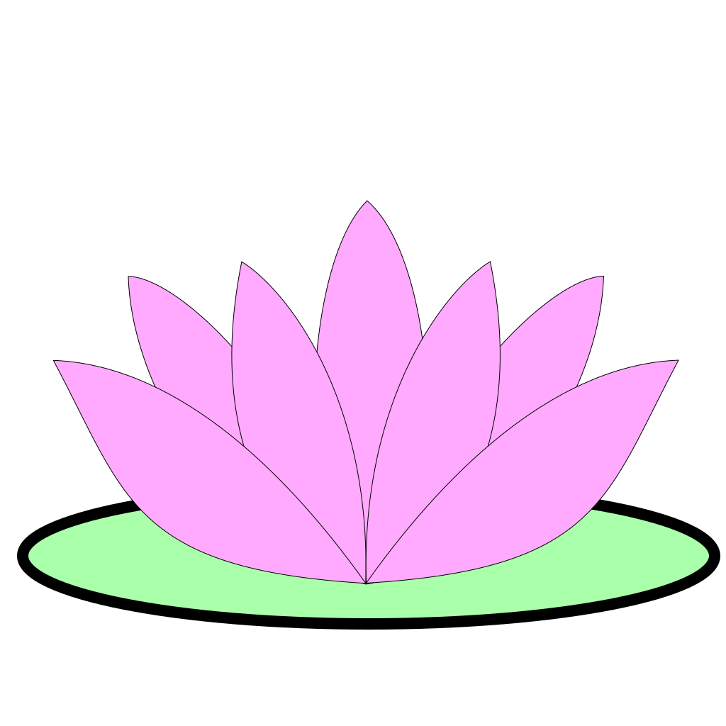 Pink Lotus Flower SVG Clip arts