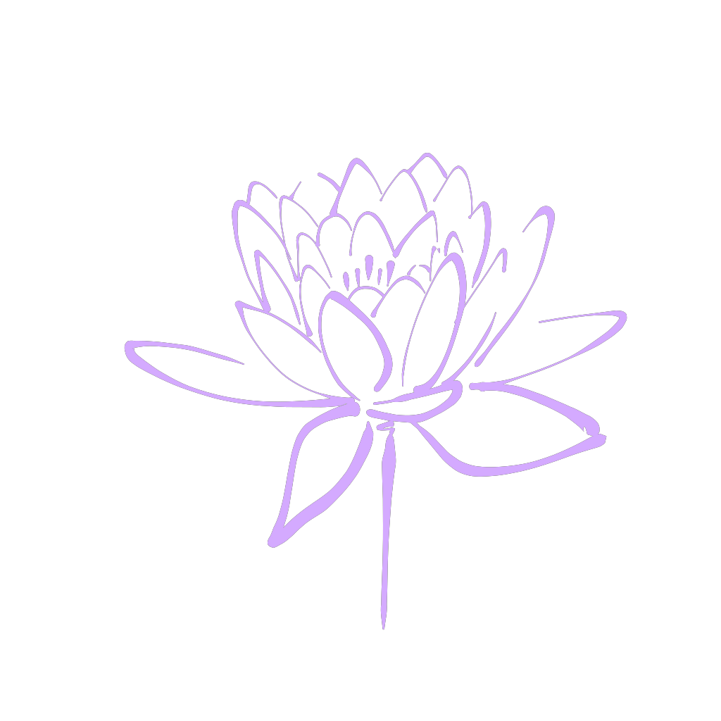 Purple Flower Haily SVG Clip arts