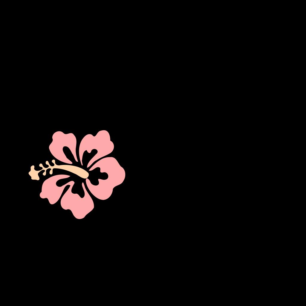 Pink Hibiscus SVG Clip arts