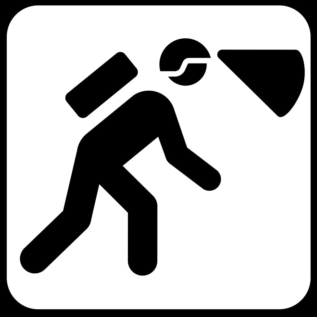 Walking In The Dark With Light In Helmet SVG Clip arts