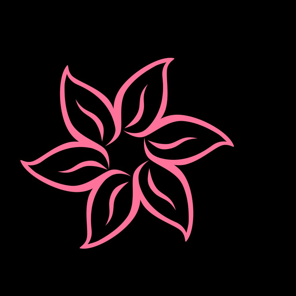 Simple Pink Flower SVG Clip arts