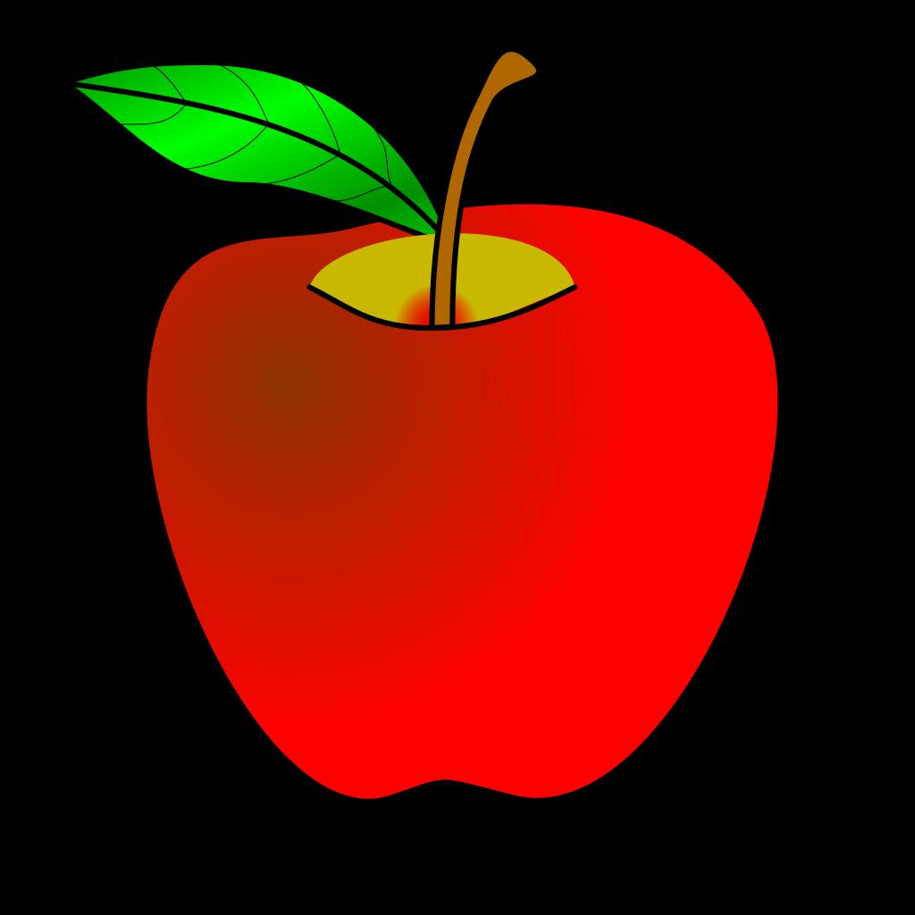 Gray Apple SVG Clip arts