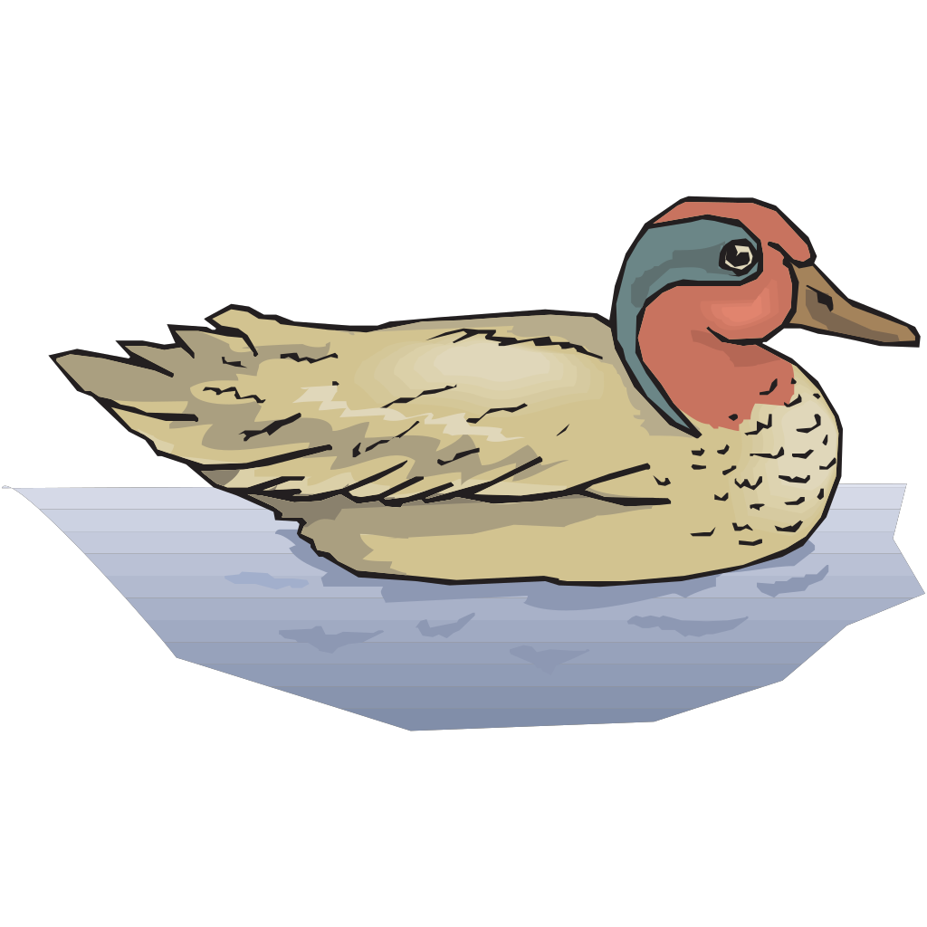 Duck On Water SVG Clip arts