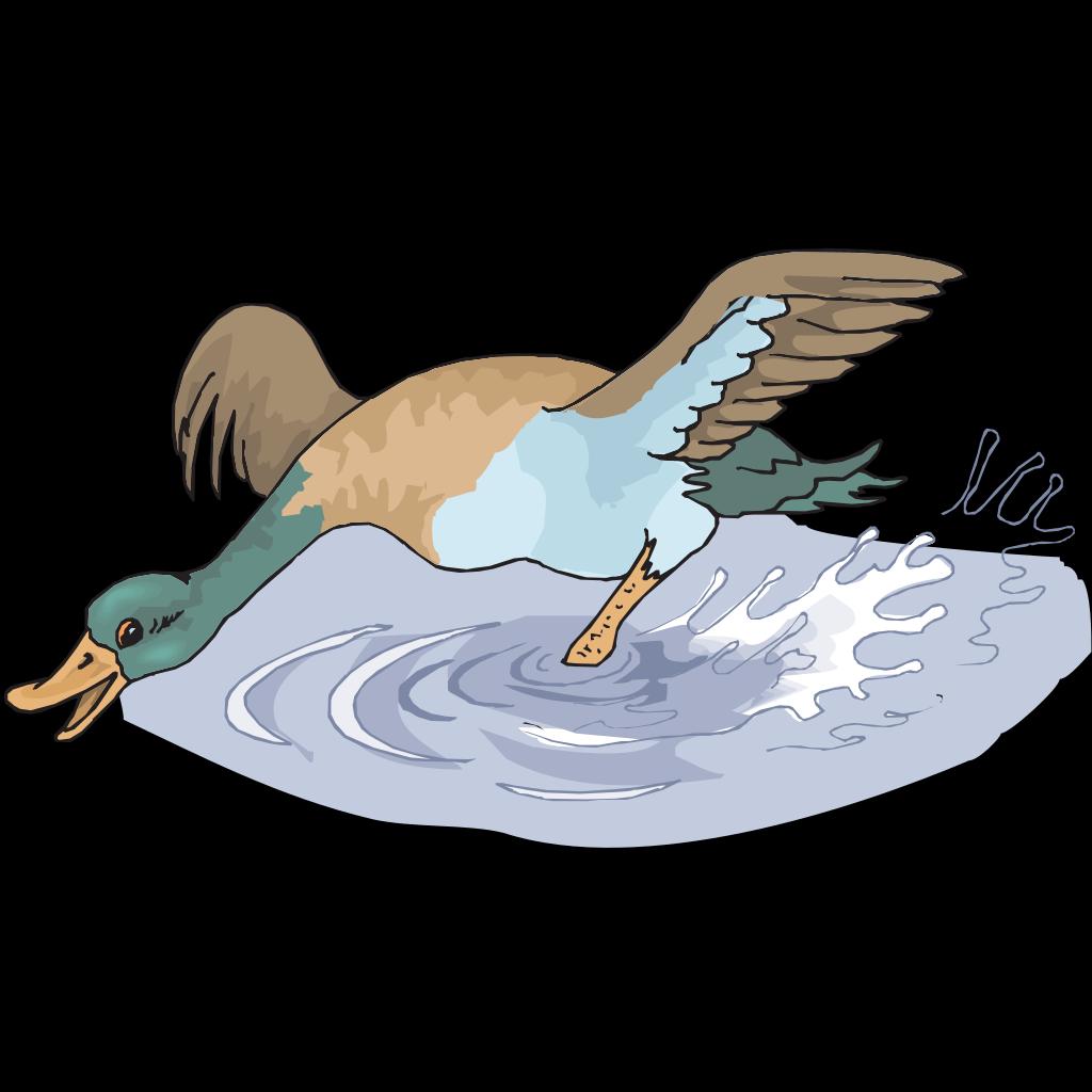 Happy Running Duck SVG Clip arts