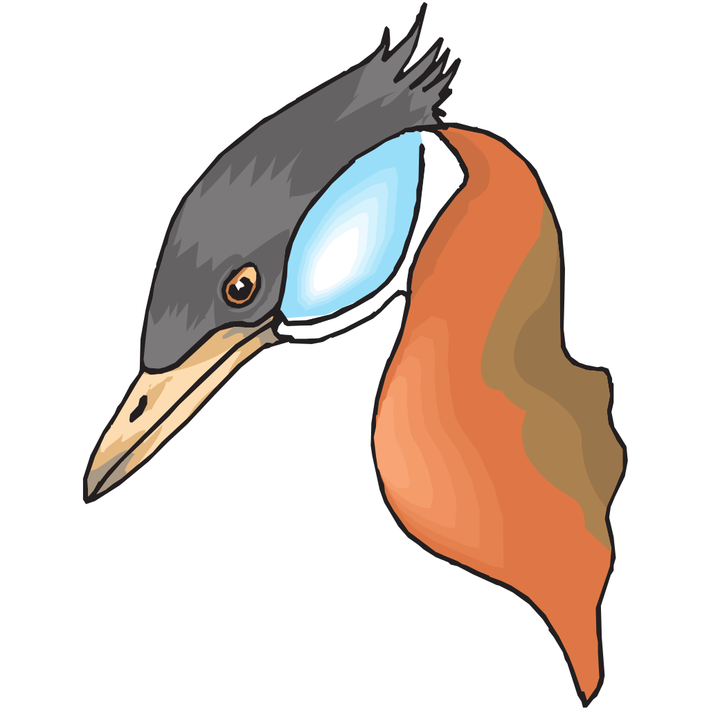 Long Necked Duck Head SVG Clip arts