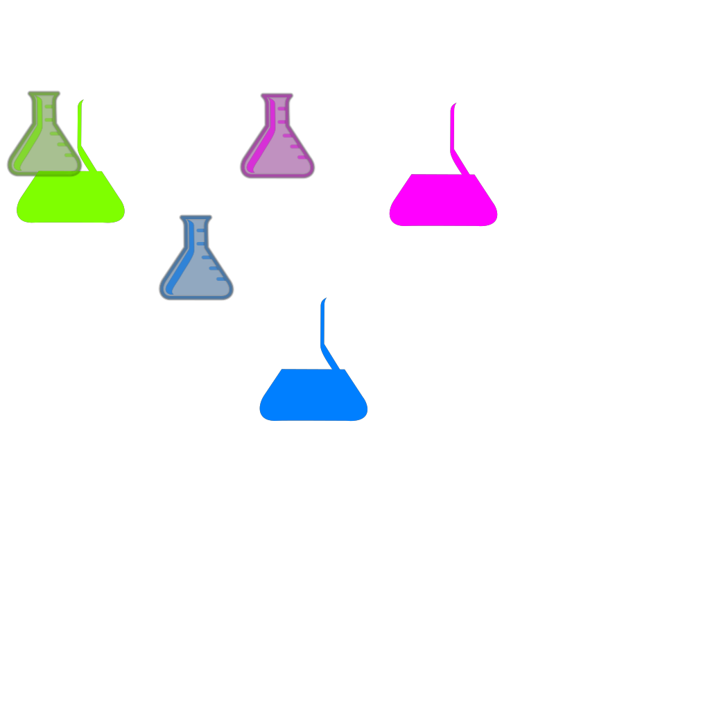 Flasks SVG Clip arts