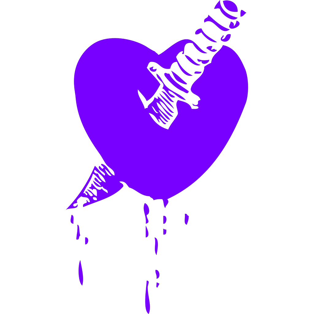 Blue Purple Hearts SVG Clip arts