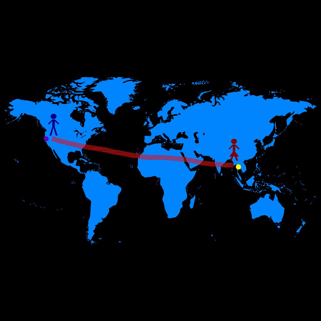 Usa Canada Time Zone Map SVG Clip arts