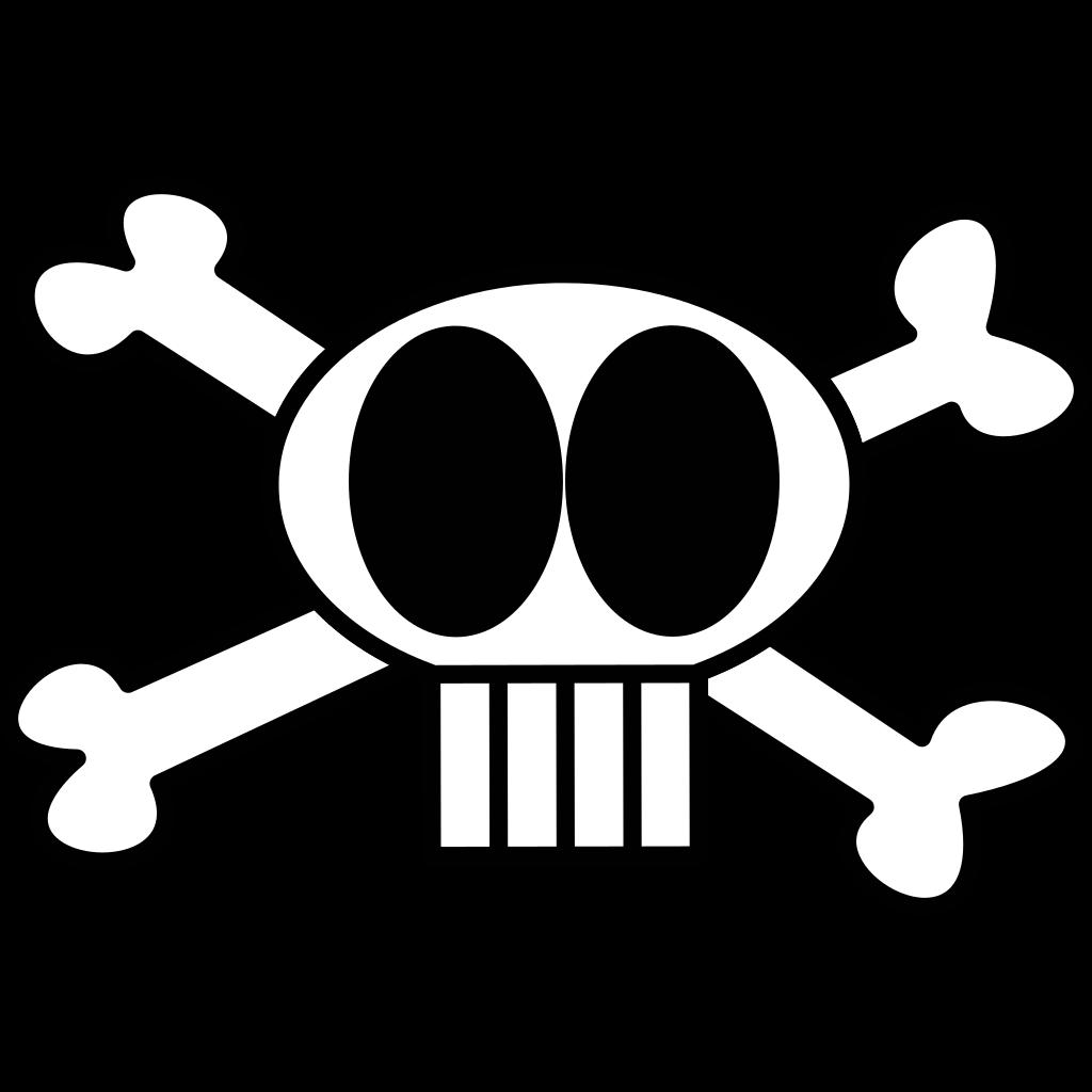 Goofy Skull SVG Clip arts