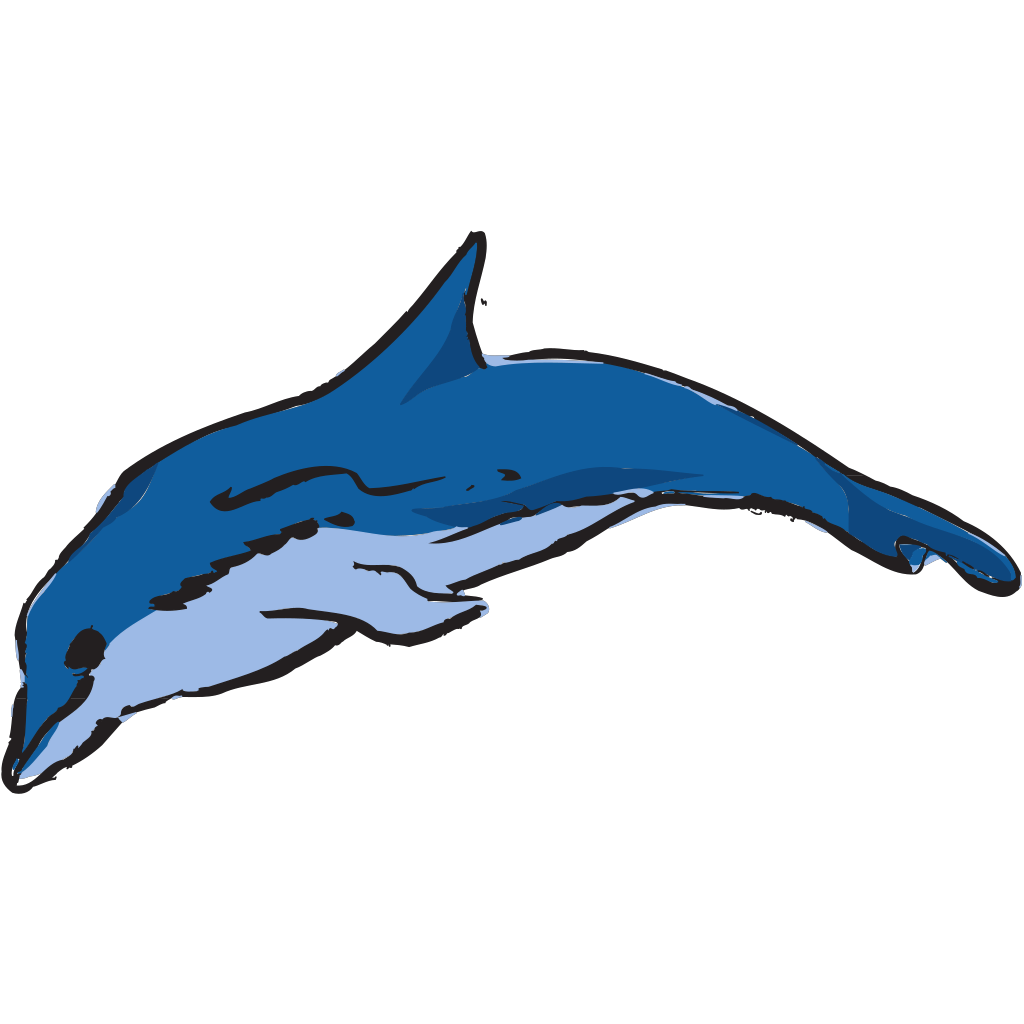 Leaping Dolphin SVG Clip arts