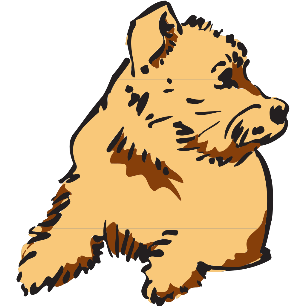 Curious Dog SVG Clip arts