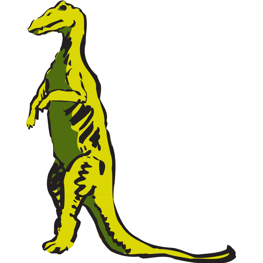 Standing Dinosaur SVG Clip arts