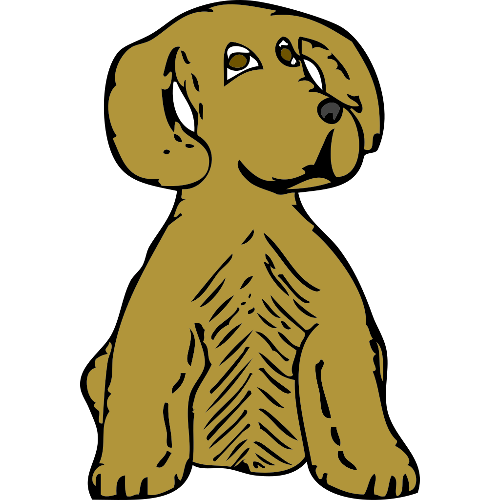 Dog Front View SVG Clip arts