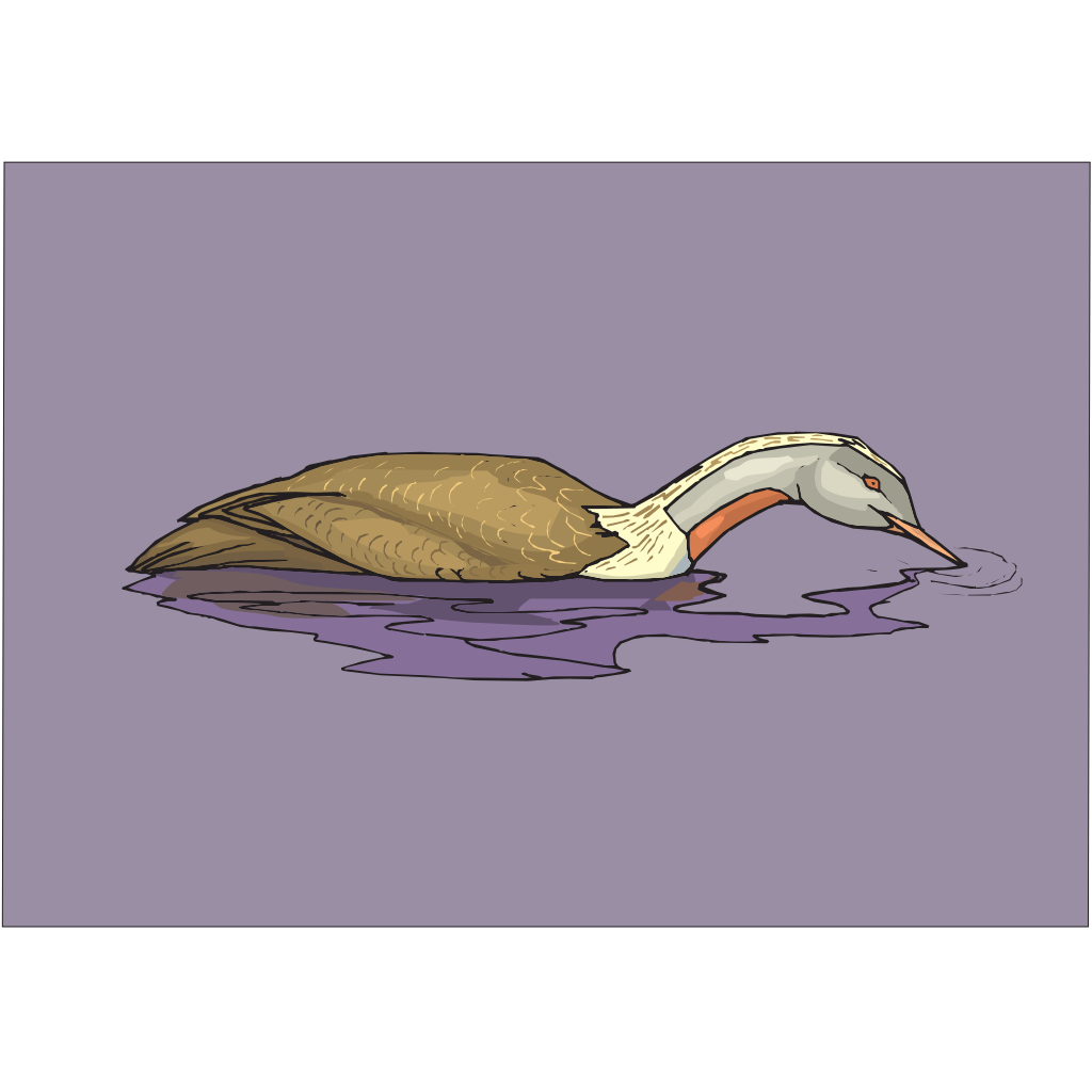 Eating Duck In Water SVG Clip arts