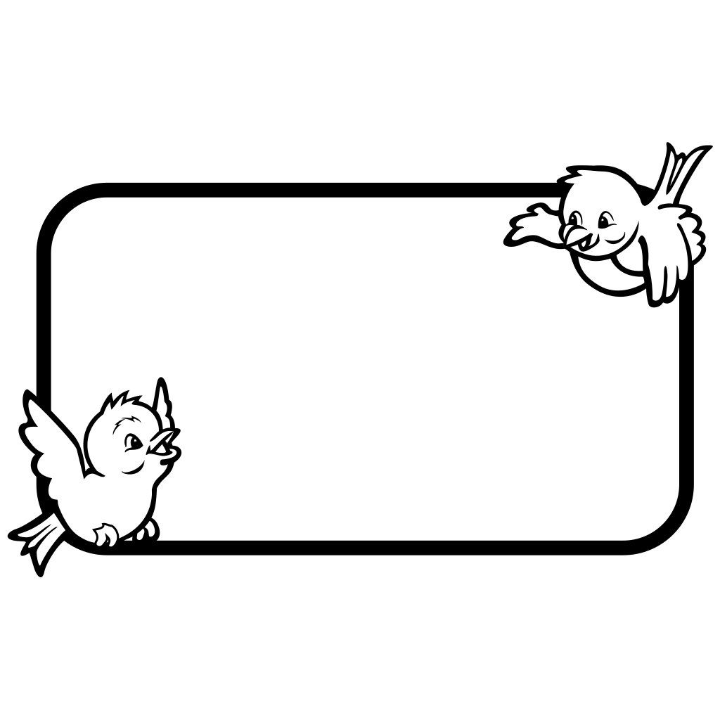 Bird Frame SVG Clip arts