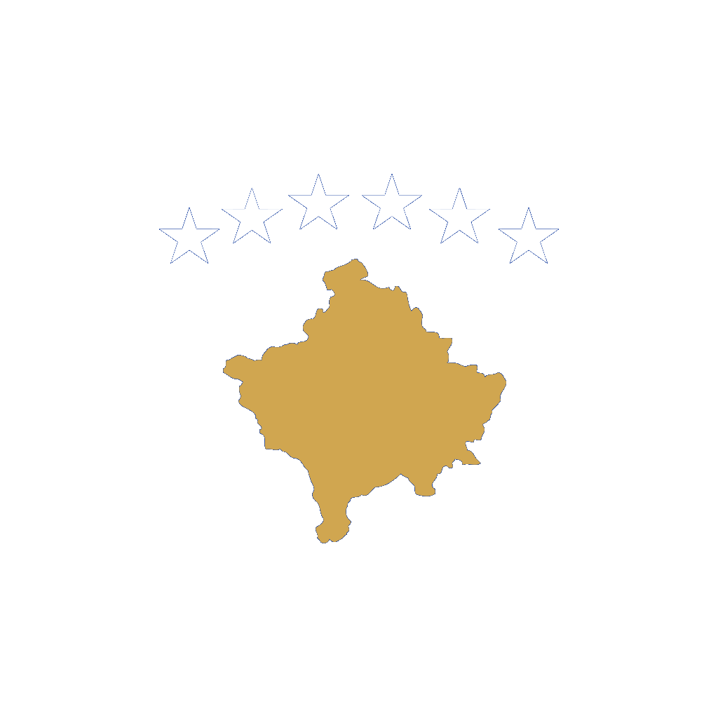 Kosovo Flag SVG Clip arts