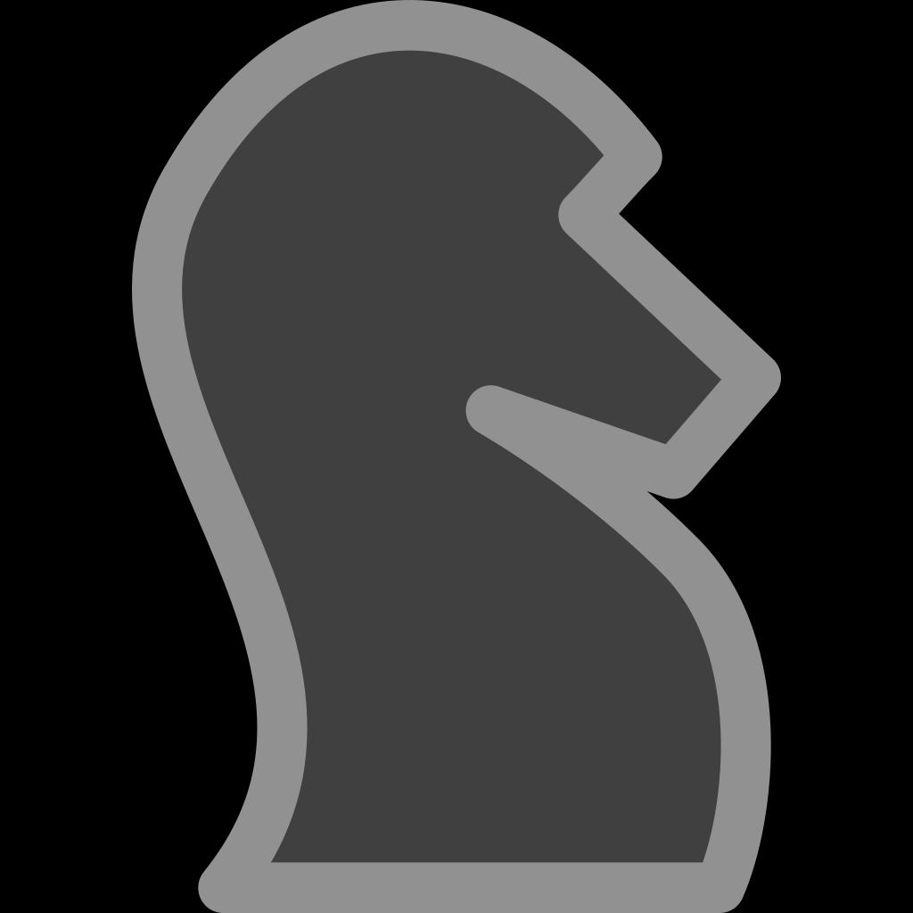 Chess Knight Black SVG Clip arts