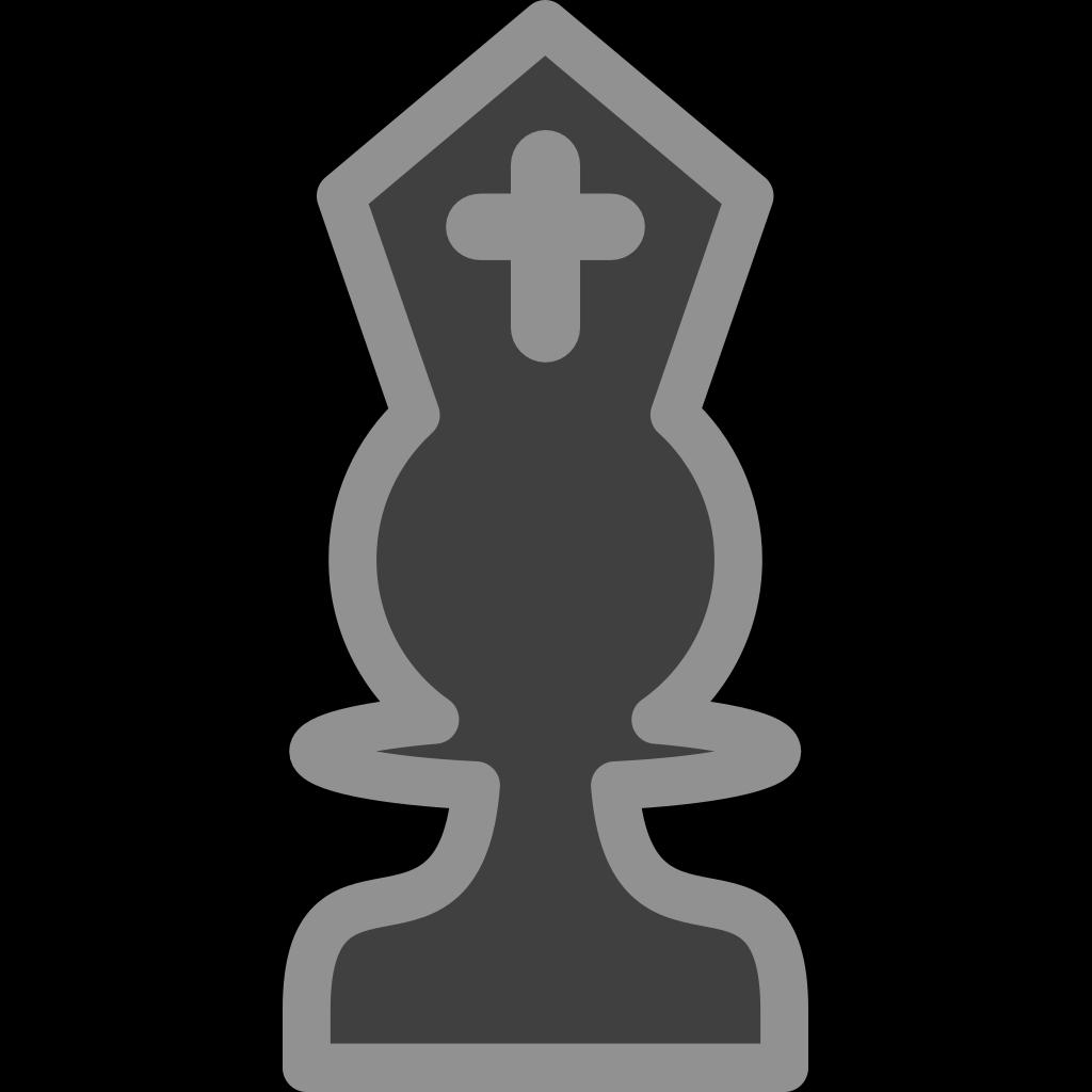Chess Bishop Black SVG Clip arts