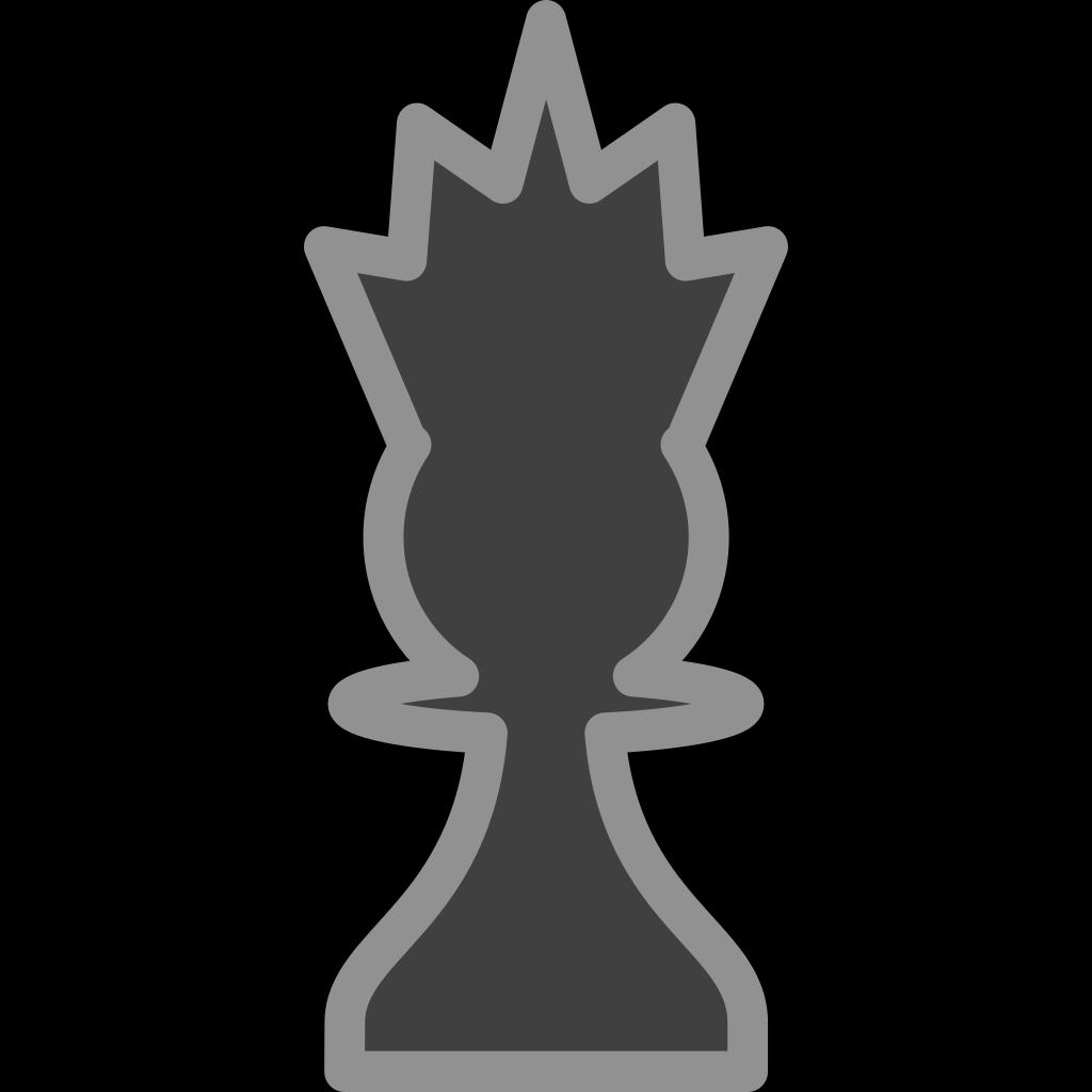 Chess Queen Black SVG Clip arts