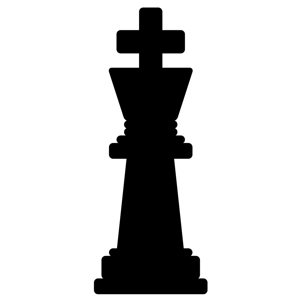 Chess King Black SVG Clip arts