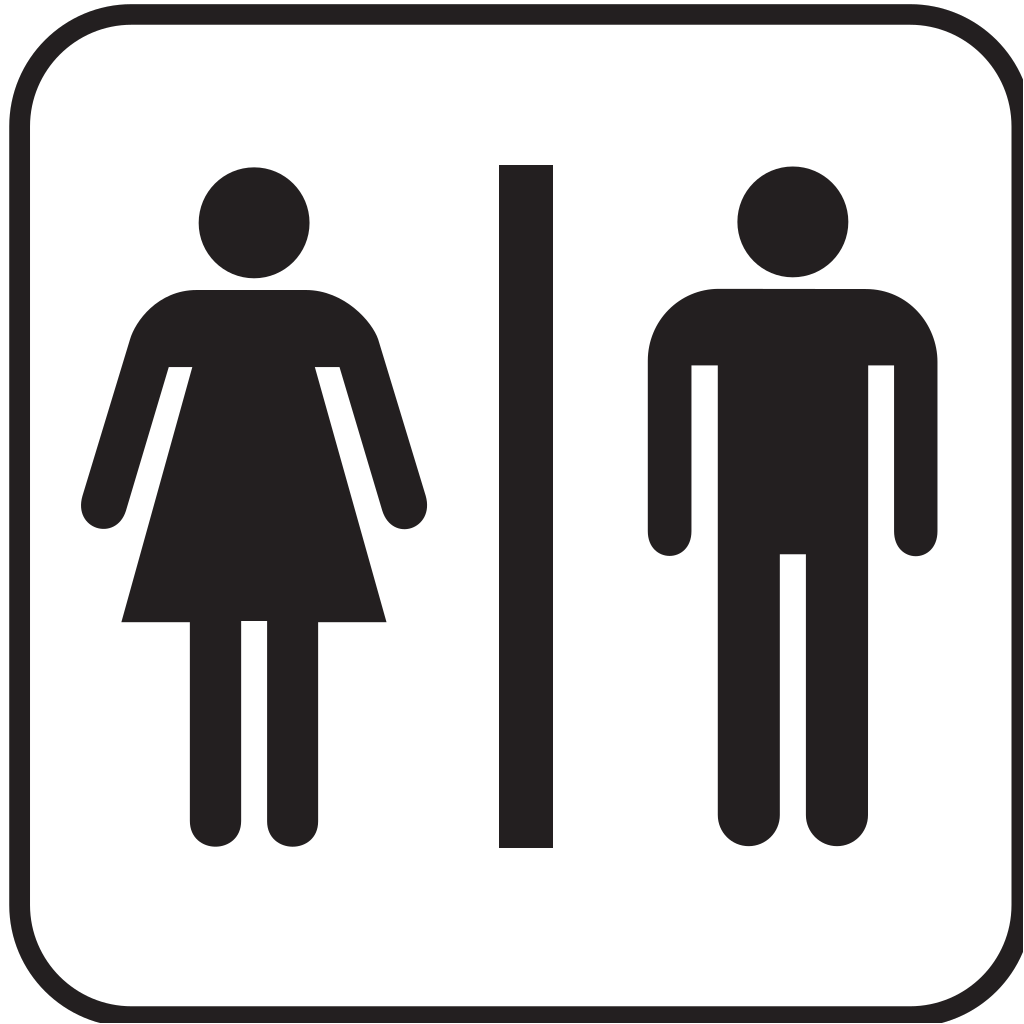 Men Women Bathroom 2 SVG Clip arts