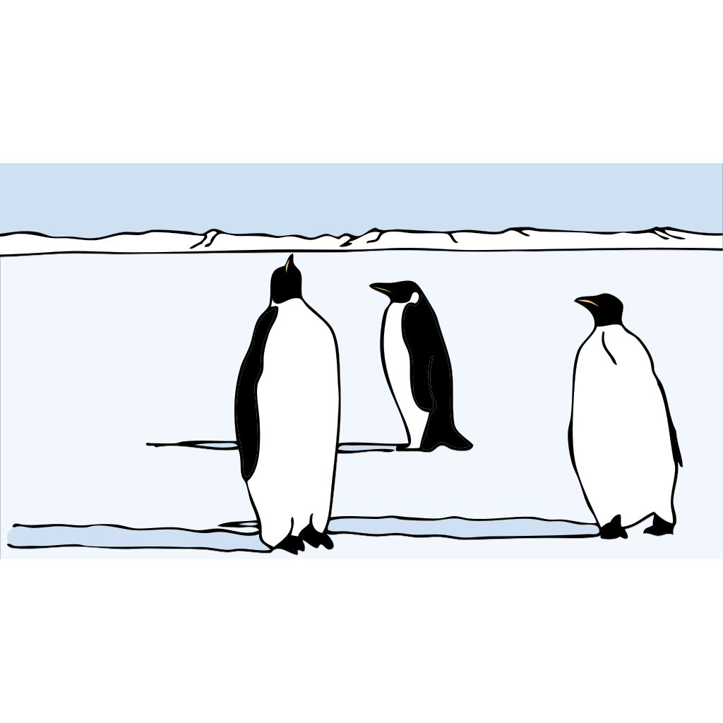 Penguins SVG Clip arts