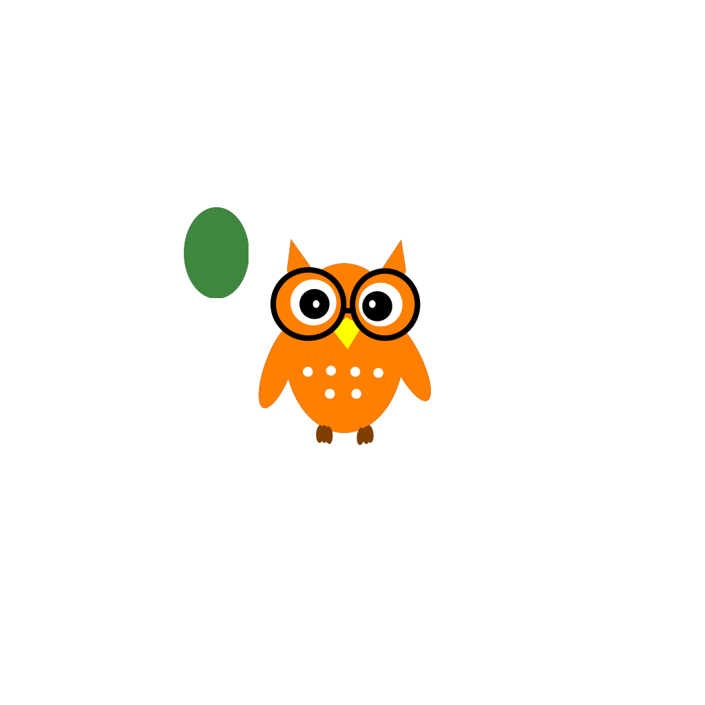 Owl On Book SVG Clip arts