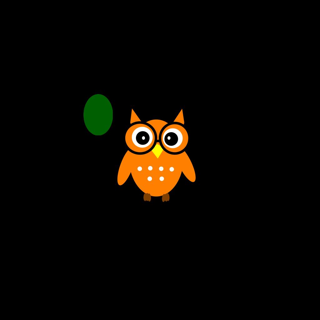 Owl On Book SVG Clip arts