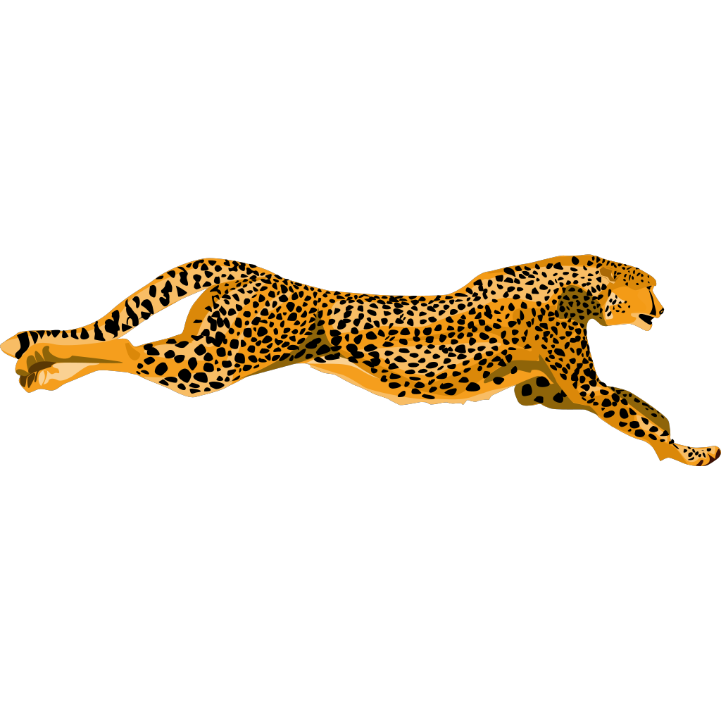 Ha Flosse Leopard Cheetah SVG Clip arts