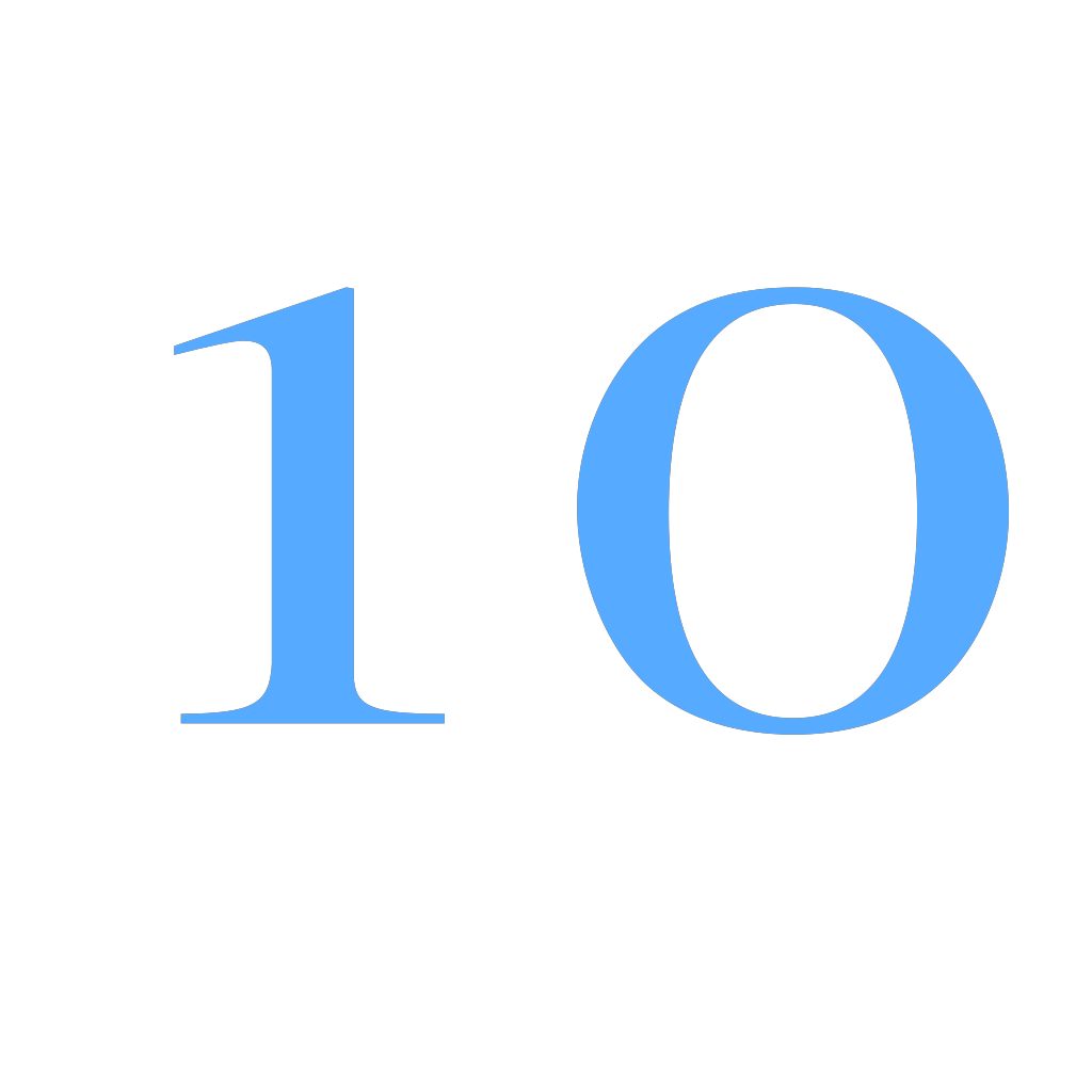 10 Countdown SVG Clip arts