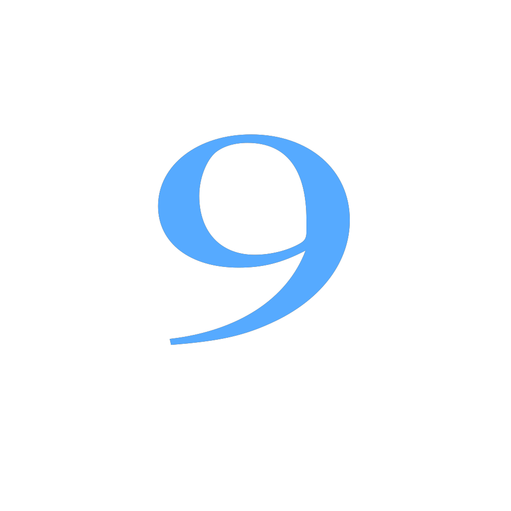 9 Countdown SVG Clip arts