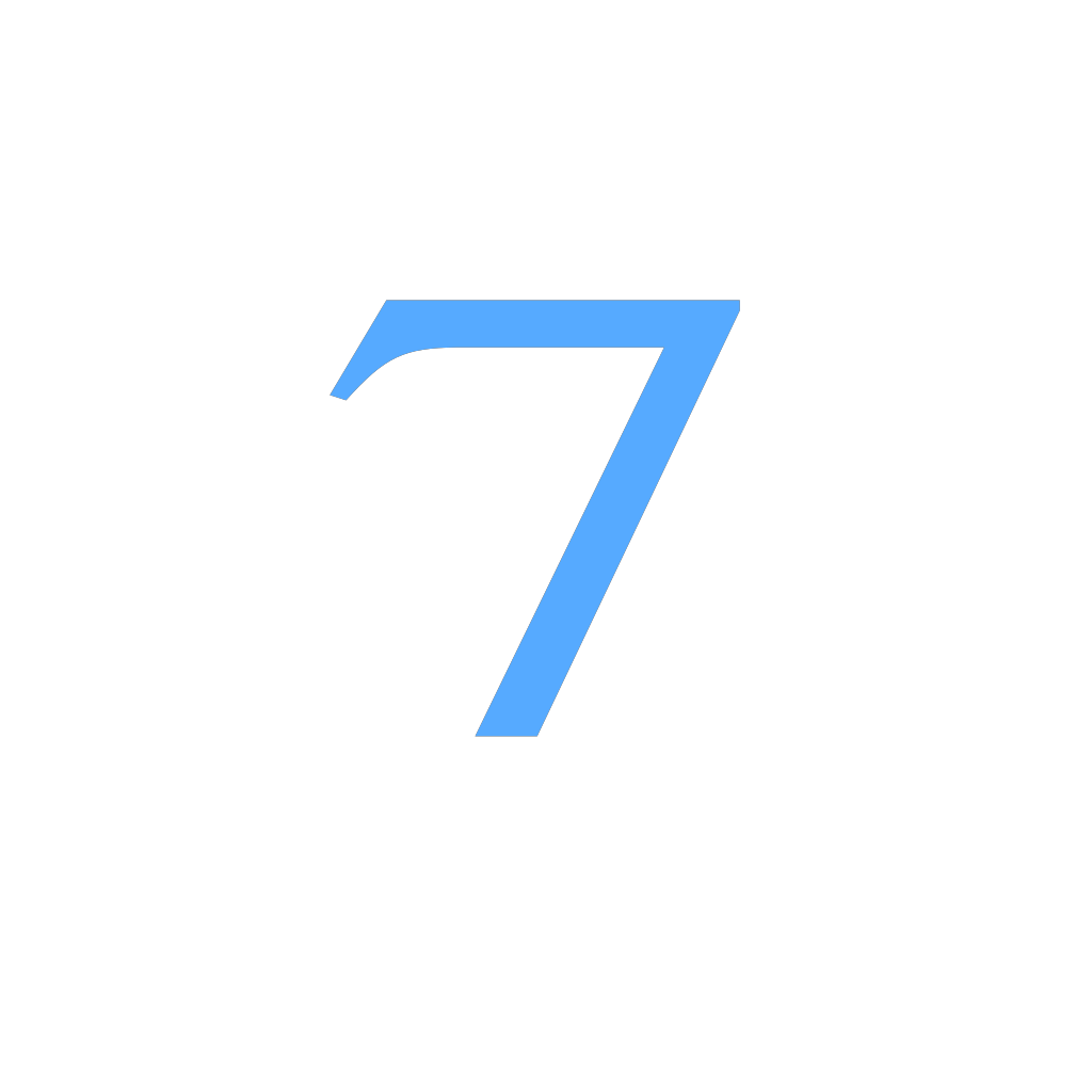 7 Countdown SVG Clip arts