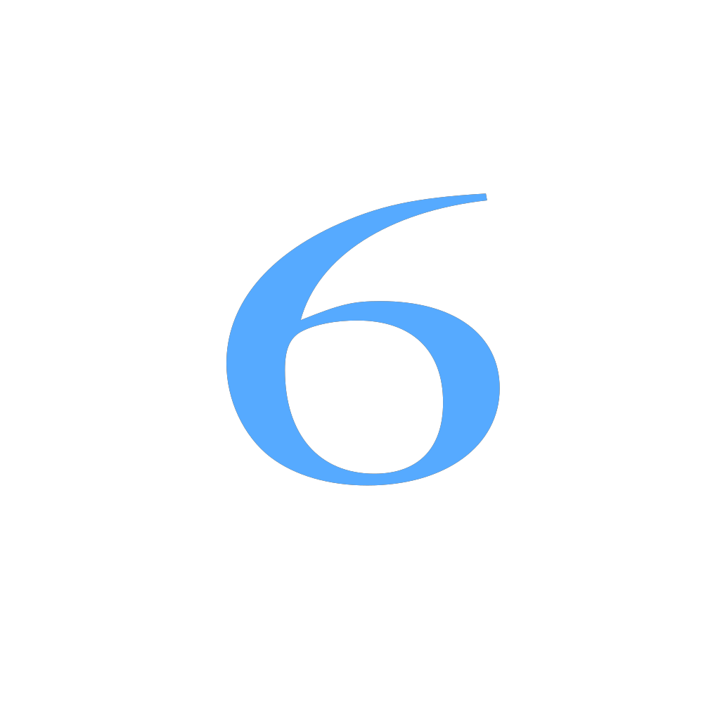 6 Countdown SVG Clip arts