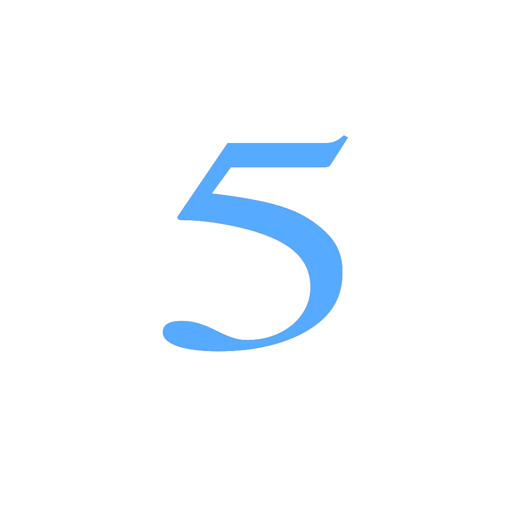 5 Countdown SVG Clip arts