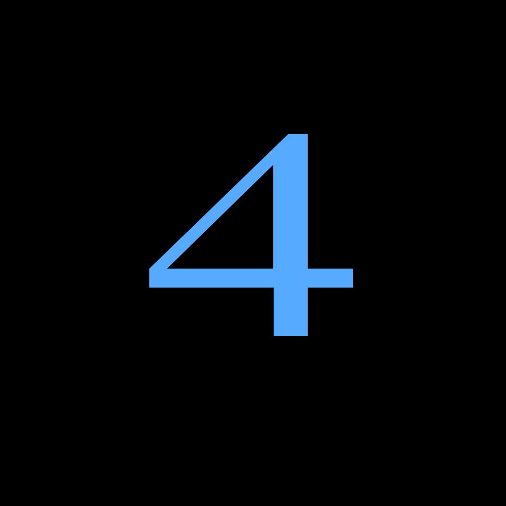 4 Countdown SVG Clip arts
