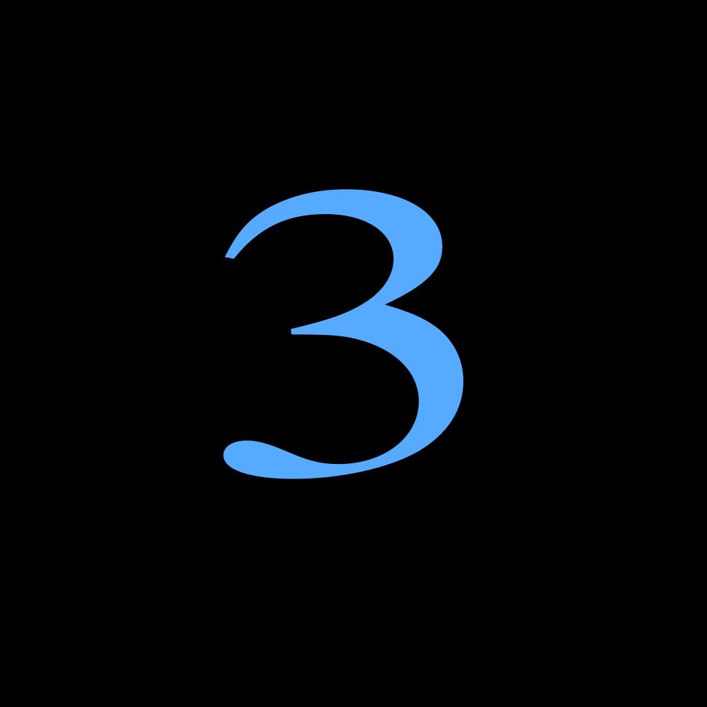 3 Countdown SVG Clip arts