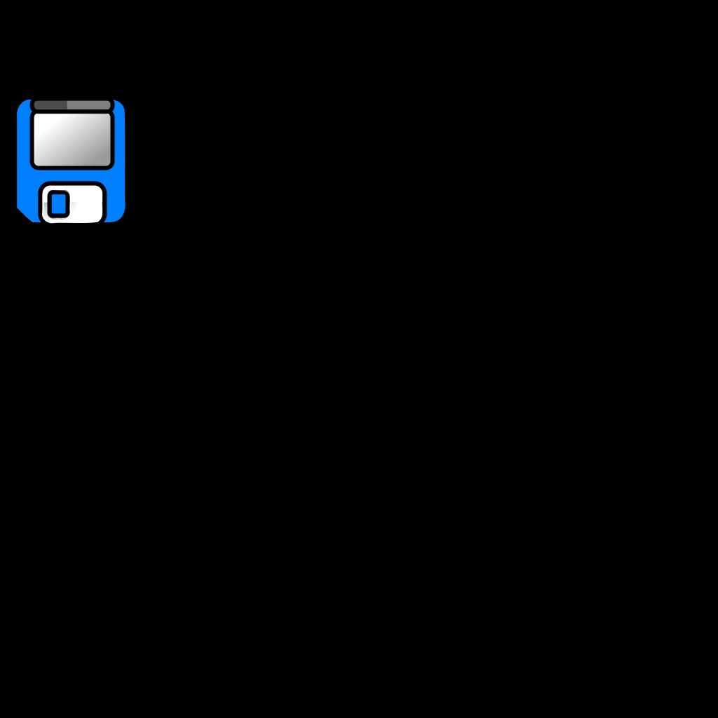 Blue Floppy Disk SVG Clip arts