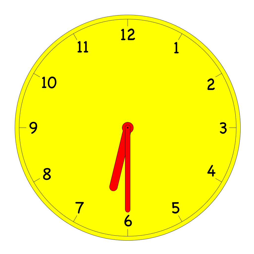 Clock Periods SVG Clip arts