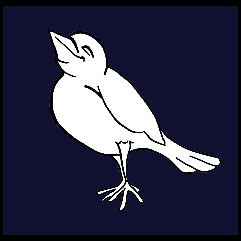 Happy Bird SVG Clip arts