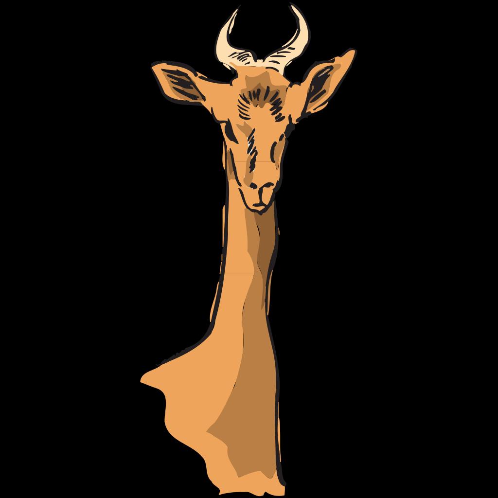 Long Necked Antelope SVG Clip arts