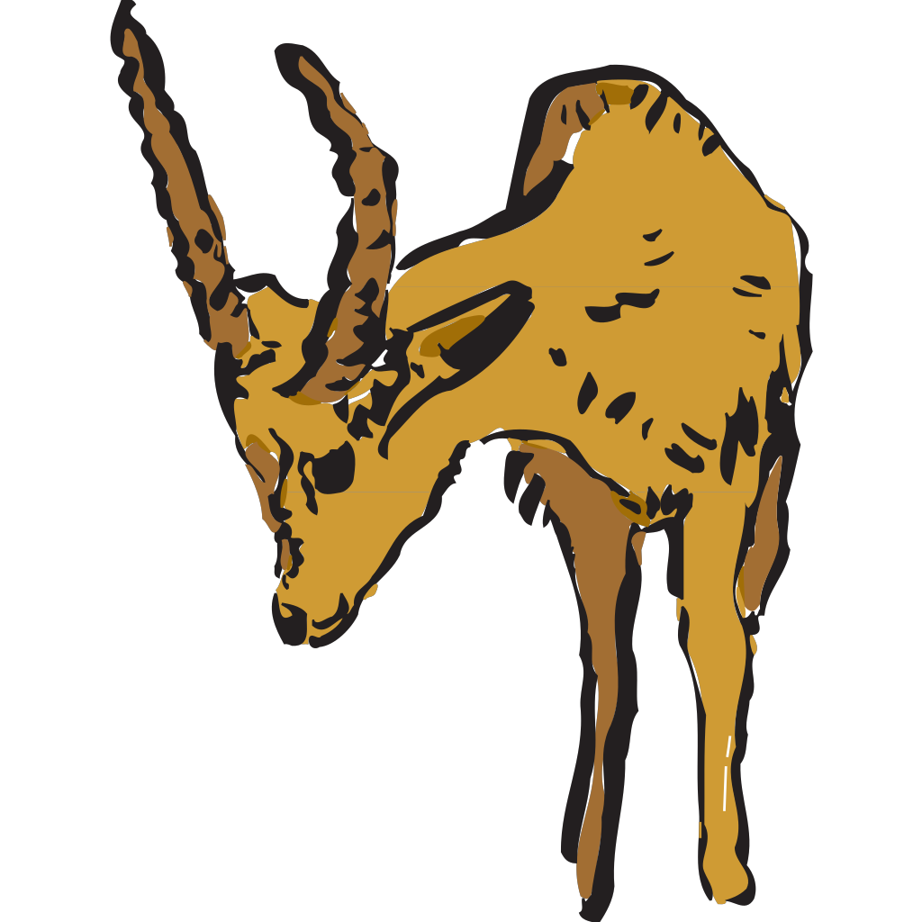 Antelope Looking At The Ground SVG Clip arts